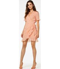 freebird jurk rosy ss mini peach