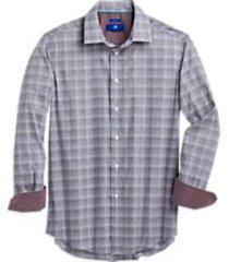 egara raspberry plaid modern fit sport shirt
