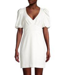 parker women's reilly puff-sleeve mini dress - ivory - size 8