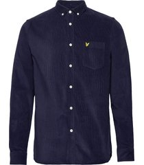 needle cord shirt overhemd casual blauw lyle & scott