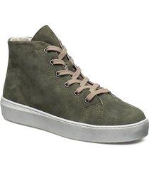 woms boots höga sneakers grön tamaris