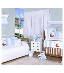 quarto completo padroeira baby barquinho azul