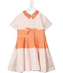 mi mi sol quilted pleated dress - pink