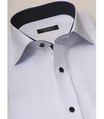 eterna heren overhemd licht oxford contrast korte mouw kent comfort fit