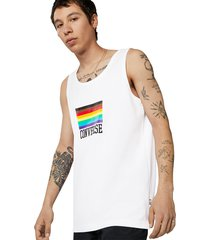 camiseta de tirantes converse pride white