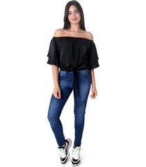 blusa top amarração oprk feminino - feminino