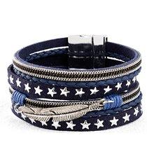 bracciale con piuma e stelline (blu) - bpc bonprix collection