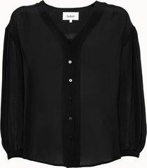 ba-sh camicia ultra in viscosa nera