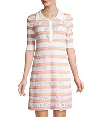 m missoni women's zig-zag knit striped polo dress - marshmallow - size 38 (2)