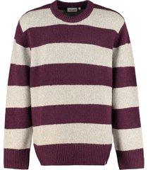 carhartt alvin striped crew-neck sweater