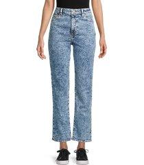 jonathan simkhai women's river high rise straight-leg jeans - light blue - size 25 (2)