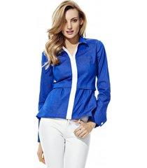 kurtka niebieska z zamkiem