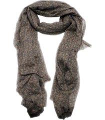 brunello cucinelli very fine cashmere scarf with flower print