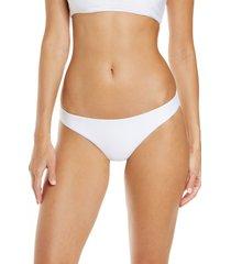 women's jade swim expose high cut bikini bottoms, size large - white