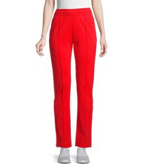 y-3 women's seamed track pants - red - size l