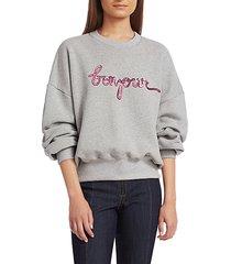 bonjour sequin oversized sweatshirt