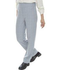pantalon cintura elasticada gris melange  corona
