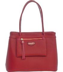 bolsa grande dhaffy bolsas alça de ombro/máo, bolso externo vermelho - tricae
