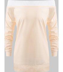off shoulder tunic sweatshirt