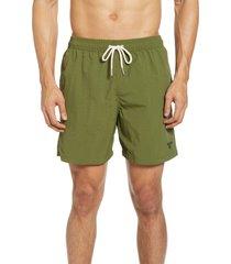 men's barbour essential solid nylon swim trunks