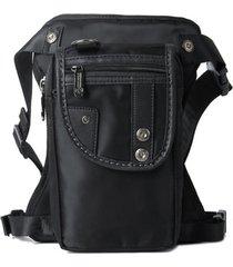 uomo solid nylon hip borsa nero solid travel borsa