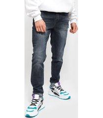 jeans ellus new slim tiro medio med blue full proceso azul - calce slim fit