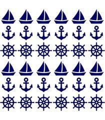 adesivo de parede decohouse navy azul - azul - dafiti
