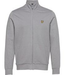 smart track top sweat-shirt trui grijs lyle & scott