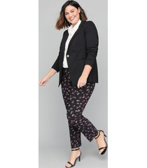 lane bryant women's bryant blazer - sexy stretch single button 28 black