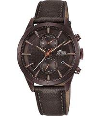 reloj chrono marrón lotus