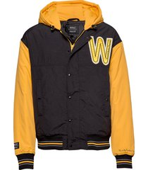 hooded padded jacket bomberjack jack geel wesc