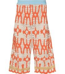 namesake tobi crochet drop-crotch shorts - neutrals