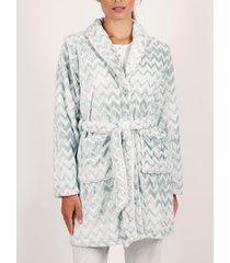 pyjama's / nachthemden admas zigzag fleece kamerjas