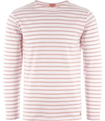 armor lux long sleeve breton striped mariniere t-shirt - natural & louts 02297