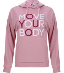 buzo mujer con capota move your body color rosado, talla m