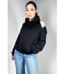 akira wagner open back functional hoodie
