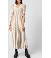 kenzo women's pleated dress - dark beige - l