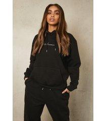 gerecyclede woman hoodie, black
