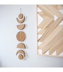 dekoracja ścienna fazy księżyca drewno