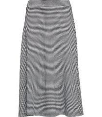 linnea dogtooth knälång kjol svart jumperfabriken