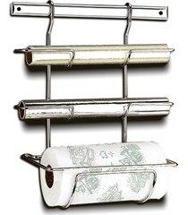 suporte para papel brinox multiuso prata