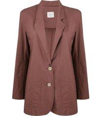 alysi straight-fit jacket - brown