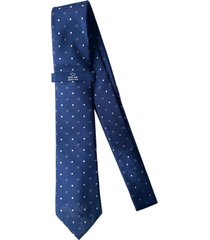 corbata azul oscar de la renta 20aa2040-195