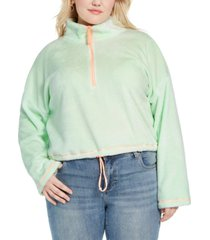 full circle trends trendy plus size bungee-hem sweater