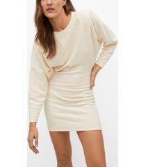 mango women's textured cotton dress