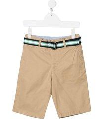 jersey bermuda shorts with belt