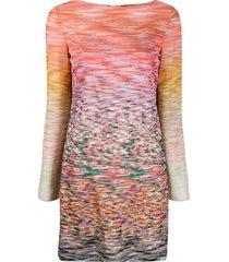 missoni intarsia knit boat-neck dress - pink