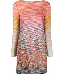 missoni intarsia knit boat-neck dress - pink