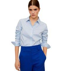 camisa azul mng