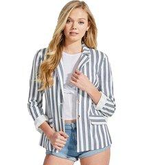 chaqueta corded yarndye stripe blanco guess